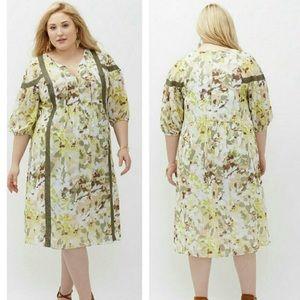 NWT Lane Bryant peasant dress